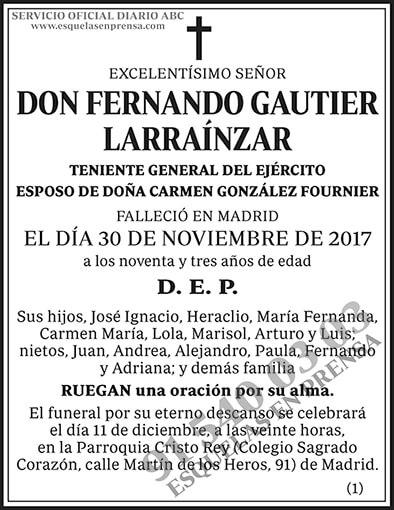 Fernando Gautier Larraínzar